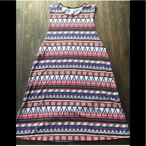 American Apparel Pattern Colorful Dress Size M